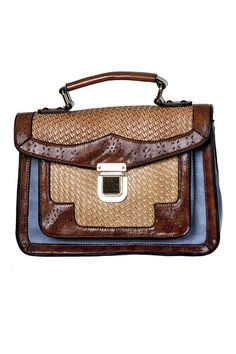 Banned Blue & Brown satchel  at Campbell Crafts