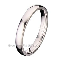 3MM Polished Comfort Fit Titanium Wedding Ring Band ** For more information, visit image link. (This is an affiliate link) #MenWeddingRings