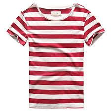 Buy Mens Stripes T-Shirts Casual Slim Fit Tshirts Striped Tees Top - Red - and shop more latest Men's Shirts all over the world. Mens Tee Shirts, Casual T Shirts, Men Casual, Casual Wear, Sweaters And Jeans, Men's Wardrobe, Striped Tee, Blue Stripes, Navy Blue
