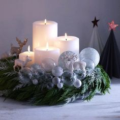 30 inspirations for the most beautiful Advent wreaths, which you can certainly copy - Adventskranz - christmas Christmas Advent Wreath, Noel Christmas, Rustic Christmas, Simple Christmas, Winter Christmas, Christmas Crafts, Advent Wreaths, 1 Advent, Christmas Centerpieces