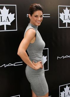 """""""Rookie Blue"""" star MISSY PEREGRYM looks good from every angle at the Golden Maple Awards in Beverly Hills. Hair & Makeup by Kim BRAGALONE"""