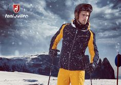 "The sporty ""Blake"" men's ski jacket is fully taped and shines functionally with top values. The Toni Sailer 4-way premium stretch material convinces with 20,000 mm hydrostatic head as well as 20,000 gr./m²/24-hour breathability, and provides optimal protection against wind and weather thanks to the Thermolite insulation. Laser details and colour accents on the arms round off the casual look."