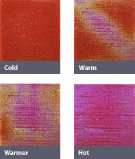 Moving Color Temperature Sensitive Color Changing Tiles