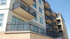 The Lyric at Carleton Place - Powder Coating Aluminum Woven Wire Mesh Exterior Railings & Stairways - Banker Wire | Banker Wire Project