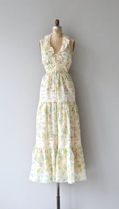 Antigas Herbas dress vintage 1970s dress floral by DearGolden