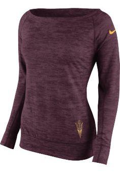 Product: Nike Arizona State University Women's Epic Warp Crewneck Sweatshirt