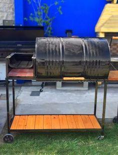 chulengo parrilla tambor completa con fogón, mesada y deck