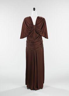 "The Metropolitan Museum of Art - ""Emperial Crown"" (jacket); ""Tonight or Never"" (dress) Elizabeth Hawes  (American, 1903–1971)   Date: spring/summer 1934 Culture: American Medium: silk. Back"