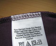 Different Types of Label Used in Garments