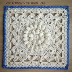 "meladorascreations:    #freecrochetpattern #crochetCrown Jewels - 12"" square http://www.ravelry.com/patterns/library/crown-jewels—12-squarePIN IT https://www.pinterest.com/pin/159666749265542172/"