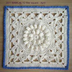"meladorascreations:    #freecrochetpattern #crochetCrown Jewels - 12"" square http://www.ravelry.com/patterns/library/crown-jewels—12-squarePIN IT https://www.pinterest.com/pin/159666749265542172/"