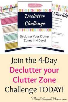 Join the Declutter your Clutter Zone Challenge and receive details on how to declutter those messiest areas of your home and live clutter-free for life! Diy Crafts To Do, Kids Crafts, Getting Rid Of Clutter, Clutter Free Home, Declutter Your Life, Diy Artwork, Love To Shop, Clean House, That Way