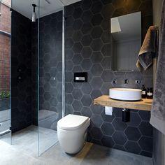 KYAL & KARA'S Block bathroom reveal, Week 2 / 2014 #honeycomb #bathroomdesign #scumsoaps www.scumsoaps.com