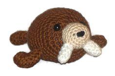 Amigurumi Walrus Brown Collectable toy walrus by lousknittingroom, $17.00 #STATTEAM