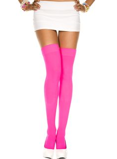 Opaque Thigh High Stockings Pastel & Neon Colors Rave Halloween Witch Costume US Stockings Outfit, Hold Up Stockings, Fishnet Stockings, Fishnet Leggings, Fishnet Dress, Cosplay Outfits, Rave Outfits, Halloween Costume Accessories, Rave Wear