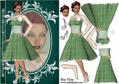 Dressed Up Fashion Reflections Decoupage on Craftsuprint - View Now!