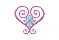 Free Satin Hearts Machine Embroidery Design