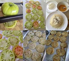 I have never actually had a real fried green tomato because by the time we decided we wanted to try them, we wanted to lighten them up by baking instead of frying them. These are seriously deliciou...