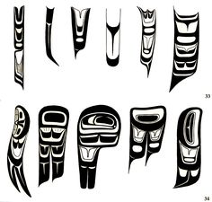 Feathers from Native art of the Pacific Northwest coast Haida Kunst, Inuit Kunst, Arte Haida, Haida Art, Inuit Art, Native American Design, Native Design, American Indian Art, Arte Tribal