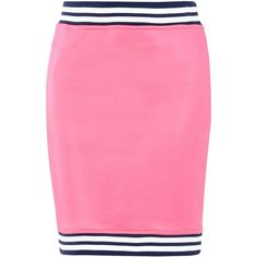 Love Moschino Knee Length Skirt (€140) ❤ liked on Polyvore featuring skirts, fuchsia, love moschino, fuschia skirt, knee length skirts, pink skirt and fuchsia skirts
