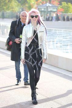 Grimes at the Louis Vuitton show