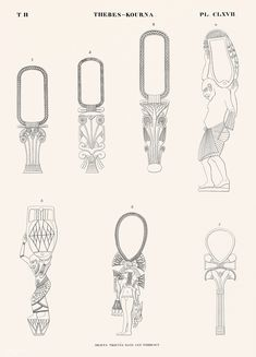 Ancient Egyptian Artifacts, Egyptian Symbols, Egyptian Drawings, Monuments, Folk Art Flowers, Old Egypt, New York Public Library, Free Illustrations, Free Images