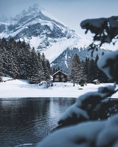 Hot chocolate weather in Switzerland. by Johannes Hulsch Beautiful World, Beautiful Places, Beautiful Pictures, Winter House, Winter Cabin, Winter Beauty, Winter Wonder, Mountain Landscape, Top Of The World