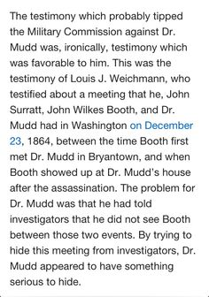 Dr. Samuel A. Mudd's Research Site
