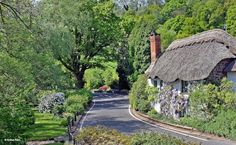 Bickleigh in Devon. A cottage by the River Exe, Bickleigh English Country Cottages, English Village, Stone Cottages, British Countryside, Thatched Roof, Cottage Homes, Cottage Gardens, Country Life, Country Living