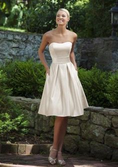 Simple, pretty bridesmade dress
