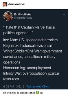 """I hate that Captain Marvel has an agenda"" *gestures wildly at the other Marvel movies* Avengers Memes, Marvel Memes, Marvel Dc Comics, Marvel Avengers, Ms Marvel, Shop Logo, Geeks, Loki, Logo Template"
