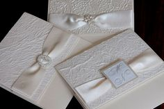 Papagraphics > Home Handmade Wedding Invitations, Wedding Stationery, Square Card, Making Cards, Altar, Invitation Cards, Diy Wedding, Layers, Ribbon