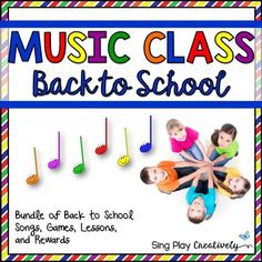 Kick off the new school year with Games-Activities-Songs and Positive Behavior Rewards. 7 original-fun-and creative resources you'll be able to use all year long. Kodaly and Orff Applications.  BUNDLES SAVE YOU MONEY! Fun and Engaging!