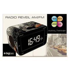 RADIO REVEIL NEW YORK TAXI JAUNE