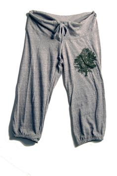 sittin under the Oak Tree Cropped Pants Yoga by nicandthenewfie, $26.00