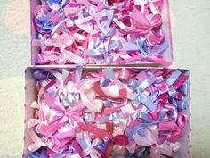 4色サイズ違いで作ったリボンシャワー Flower Shower, Sprinkles, Flowers, Weddings, Color, Decoration, Amazing, Decor, Wedding