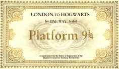 Lots of DIY stuff for Harry potter including downloadable images to print, eg Hogwarts Express Train Ticket