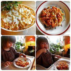 Edel's Mat & Vin : Pølsegrateng med pasta og tomatsaus !