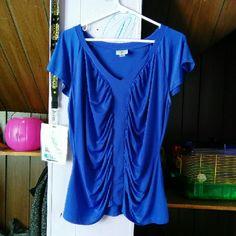 Dress Shirt Blue stretchy dress shirt Never worn Tops Blouses