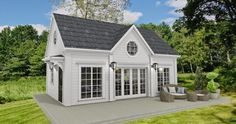 Det New England inspirerade huset som jag just nu jobbar med har ett gästhus på 40 kvadratmeter. Ibland när man ritar så blir man nästan l... New England Hus, Gazebo, Layout, Outdoor Structures, Mansions, House Styles, Home Decor, Page Layout, Deck Gazebo