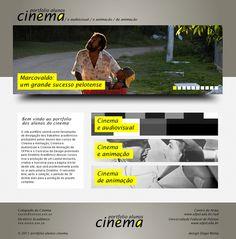 Site do portfolio dos cursos de cinema da UFPEL on Behance