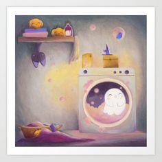 bath time Art Print by Laure S - X-Small Halloween Illustration, Halloween Drawings, Halloween Art, Cute Illustration, Digital Illustration, Halloween Stickers, Helloween Wallpaper, Illustration Inspiration, Cute Ghost