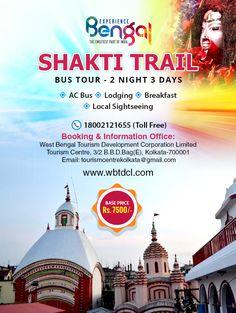 SHAKTI TRAIL - BUS TOUR - 2 NIGHT 3 DAYS  TOURISM CENTRE- BOLPUR-TARAPITH-NALHATI- SAINTHIYA-BAKRESWAR-KANKALITALA -KOLKATA