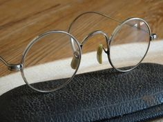 5cece2b2fe86 Items similar to Vintage Childs Shuron Round Eyeglasses Cable Temples