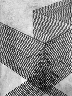 Danny Jauregui USA) - Ruins number one through six / Sacred Geometry Op Art, Art Graphique, Grafik Design, Pics Art, Art Plastique, Geometric Art, Textures Patterns, Line Patterns, Line Drawing