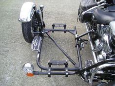 Frames Source by kfzguendler… Motorcycle Trike Kits, Motorcycle Trailer, Motorcycle Types, Moto Bike, Scooter Custom, Custom Bikes, Honda Motorcycles, Cars And Motorcycles, Bike With Sidecar