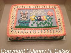 Easter bday cake  www.facebook.com/Jannyh.cakes