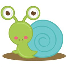 Cute Snail SVG cut files for scrapbooking; cute for snail mail