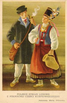 Costumes from Northern Kurpie by Kolberg Folk Costume, Costumes, Polish Folk Art, My Roots, Folklore, Poland, Cartoon, Pictures, Image