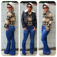 #DIY Turtle Neck Sweater + #Forever21 Jacket + Pattern Review B5679 View A